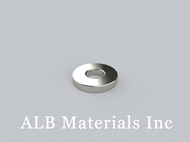 R-OD12H2ID5-N35 Neodymium Magnet, OD12xID5x2mm Ring Magnet