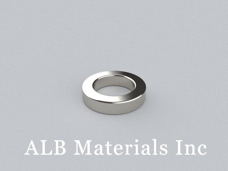R-OD14H3ID9-N38 Neodymium Magnet, OD14xID9x3mm Ring Magnet