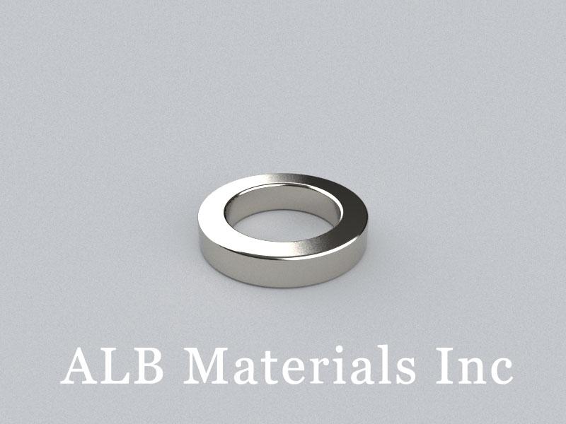 R-OD15H3ID10-N42 Neodymium Magnet, OD15xID10x3mm Ring Magnet