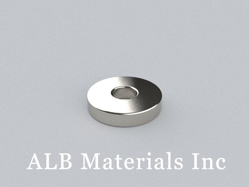 R-OD15H3ID5-N42 Neodymium Magnet, OD15xID5x3mm Ring Magnet