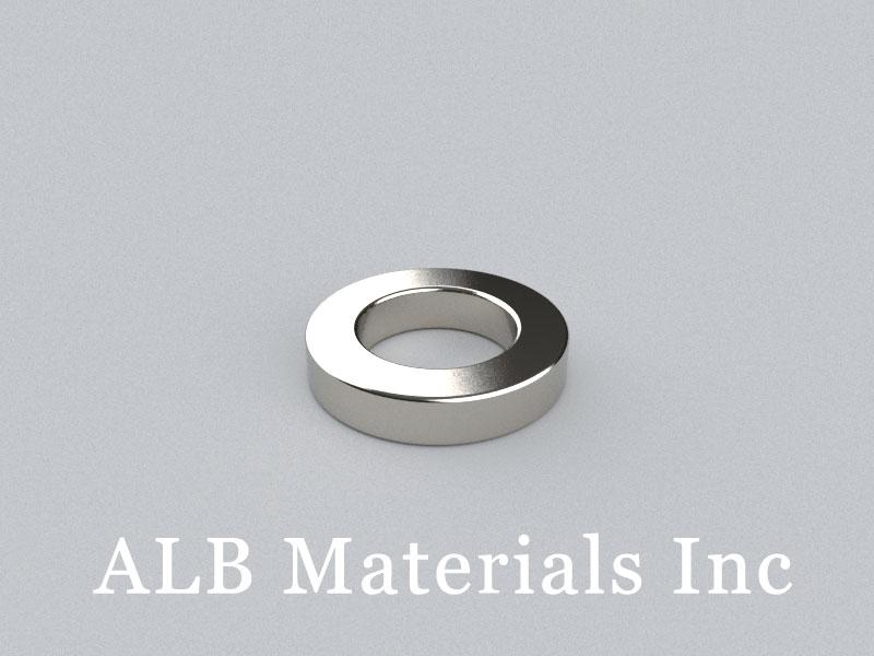 R-OD15H3ID9-N52 Neodymium Magnet, OD15xID9x3mm Ring Magnet