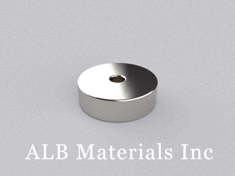 R-OD16.6H5ID3-N48 Neodymium Magnet, OD16.6xID3x5mm Ring Magnet