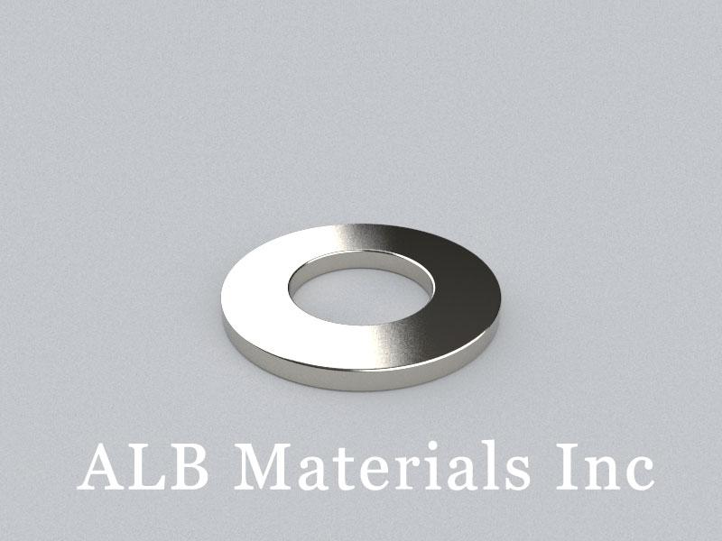 R-OD19.4H1.65ID10-N38H Neodymium Magnet, OD19.4xID10x1.65mm Ring Magnet