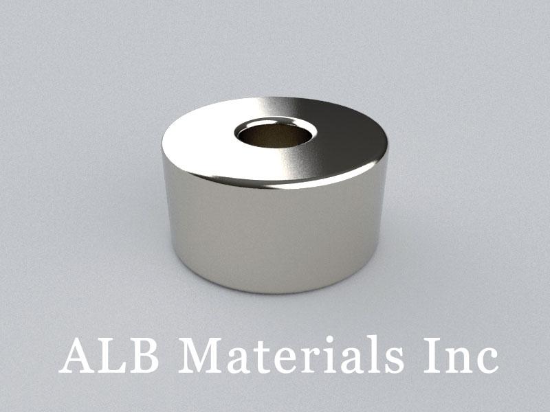 R-OD19H10ID6-N38 Neodymium Magnet, OD19xID6x10mm Ring Magnet