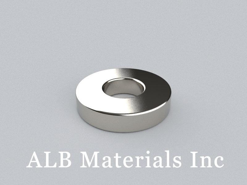 R-OD19H4ID8-N38 Neodymium Magnet, OD19xID8x4mm Ring Magnet