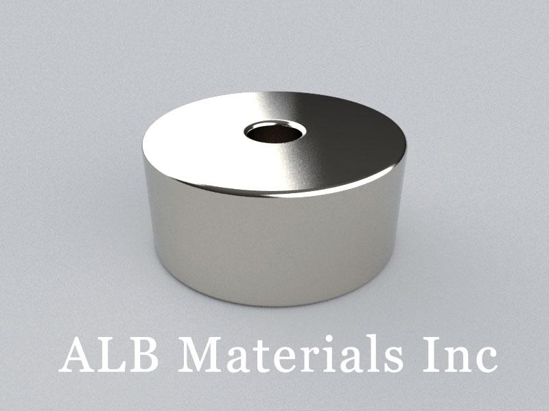 R-OD22H10ID4.5-N38 Neodymium Magnet, OD22xID4.5x10mm Ring Magnet