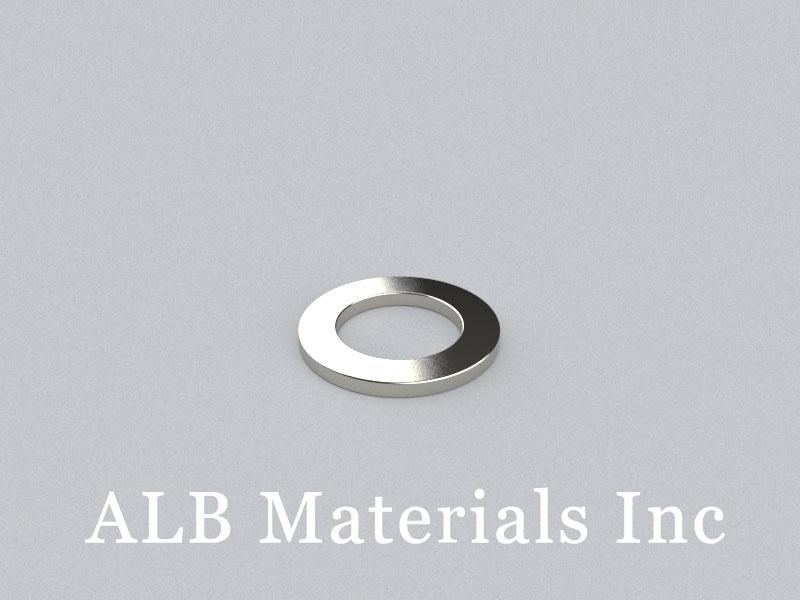 R-OD24H2ID15-N35H Neodymium Magnet, OD24xID15x2mm Ring Magnet