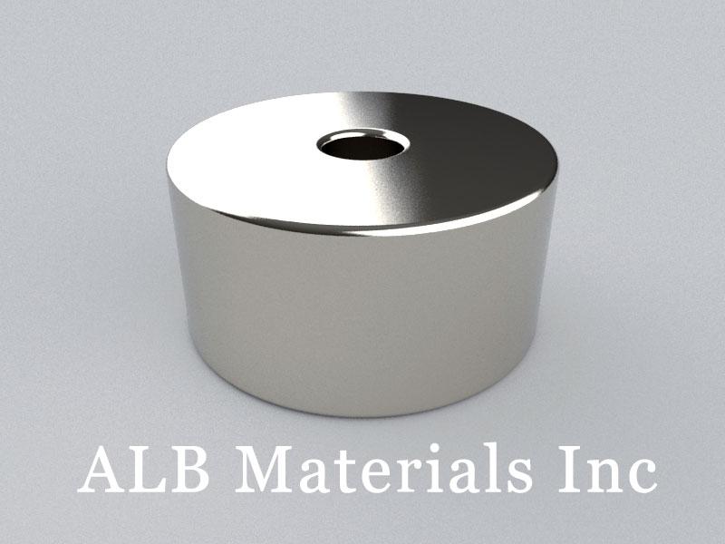 R-OD24H12ID5-N45 Neodymium Magnet, OD24xID5x12mm Ring Magnet