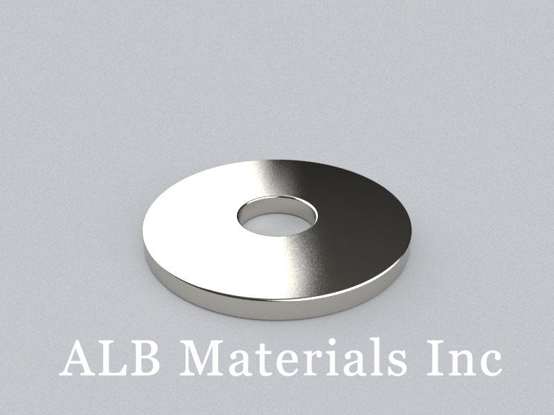 R-OD24H2ID7-N35 Neodymium Magnet, OD24xID7x2mm Ring Magnet