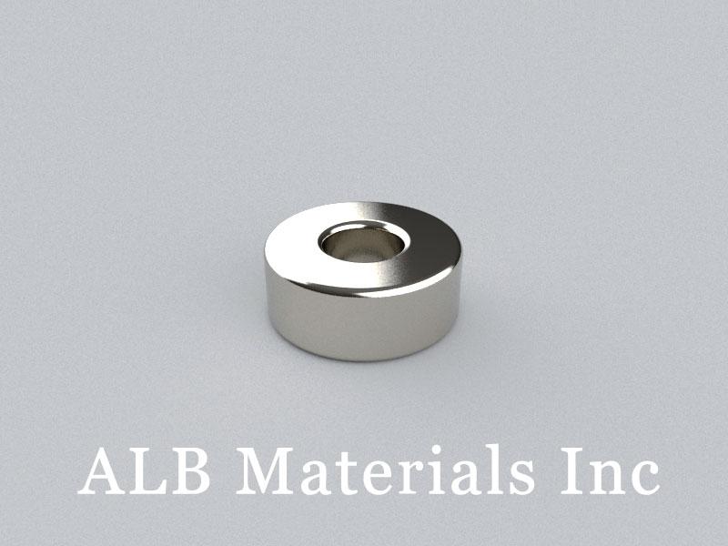 R-OD25H10ID10-N35 Neodymium Magnet, OD25xID10x10mm Ring Magnet