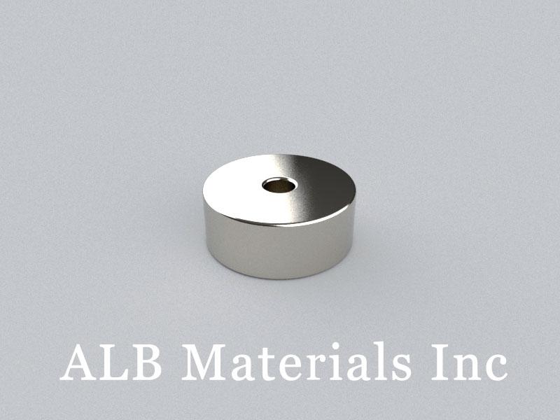 R-OD25H10ID5-N35 Neodymium Magnet, OD25xID5x10mm Ring Magnet