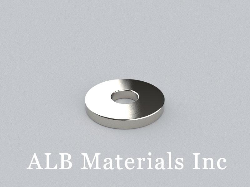 R-OD30H4ID10-N42 Neodymium Magnet, OD30xID10x4mm Ring Magnet