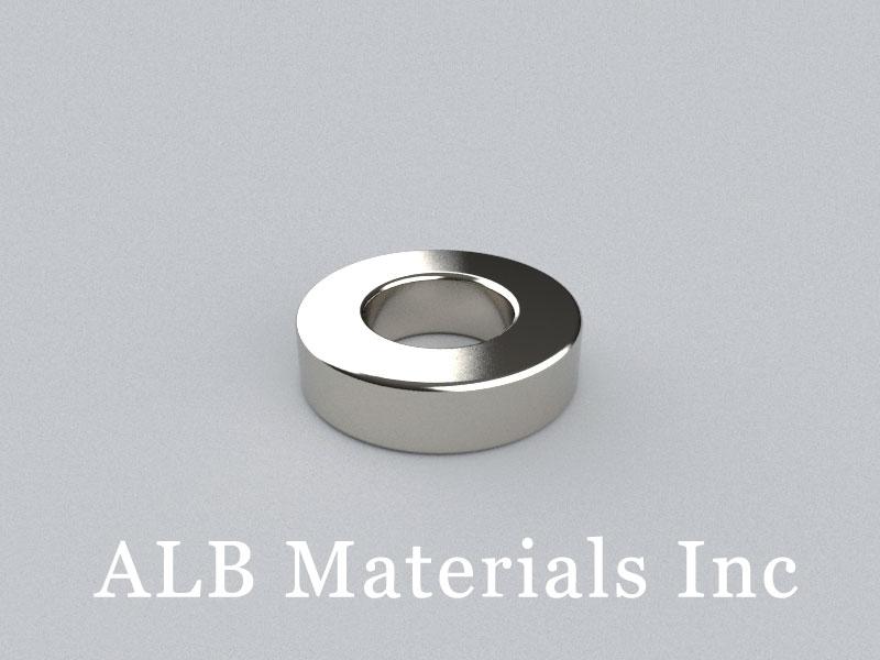 R-OD30H8ID15.5-N38 Neodymium Magnet, OD30xID15.5x8mm Ring Magnet