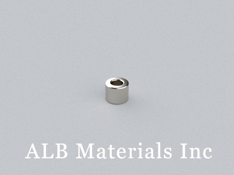 R-OD5H4ID2.5-N52 Neodymium Magnet, OD5xID2.5x4mm Ring Magnet