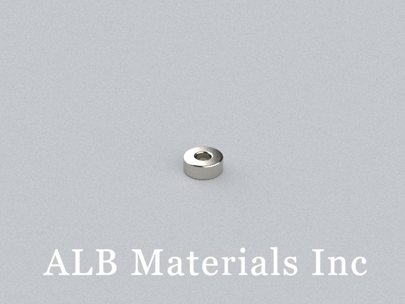 R-OD5H2ID2-N45 Neodymium Magnet, OD5xID2x2mm Ring Magnet