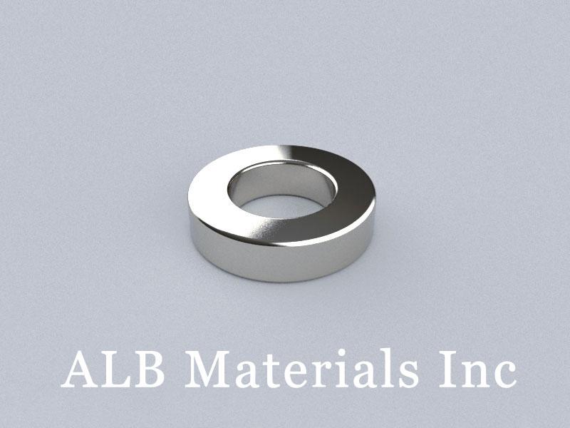 R-OD2.5inH0.6inID1.4in-N52 Neodymium Magnet, OD63.5xID35.56x15.24mm Ring Magnet
