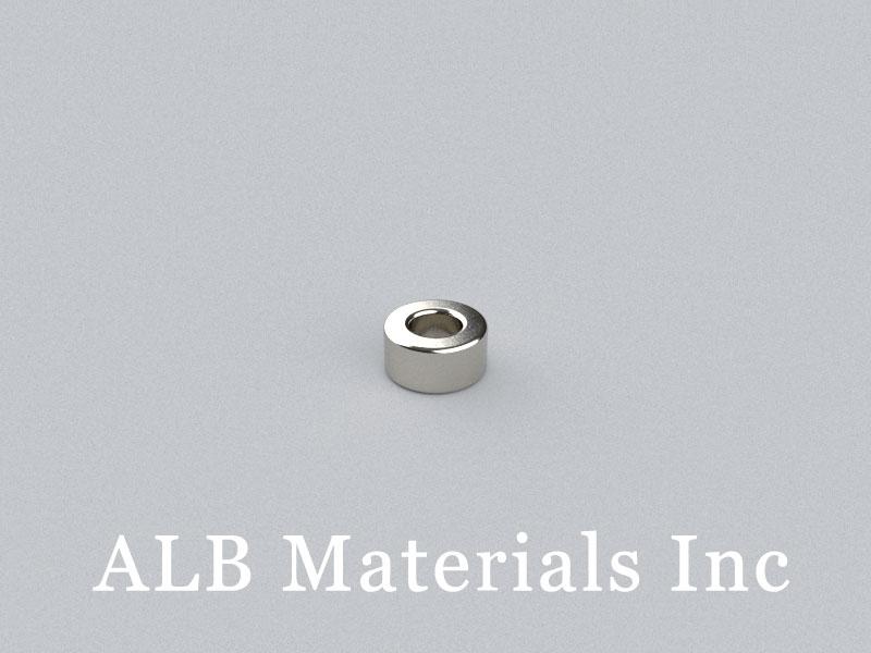 R-OD6H3ID3-N52 Neodymium Magnet, OD6xID3x3mm Ring Magnet