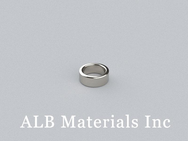R-OD8H3ID6.1-N50HBE Neodymium Magnet, OD8xID6.1x3mm Ring Magnet