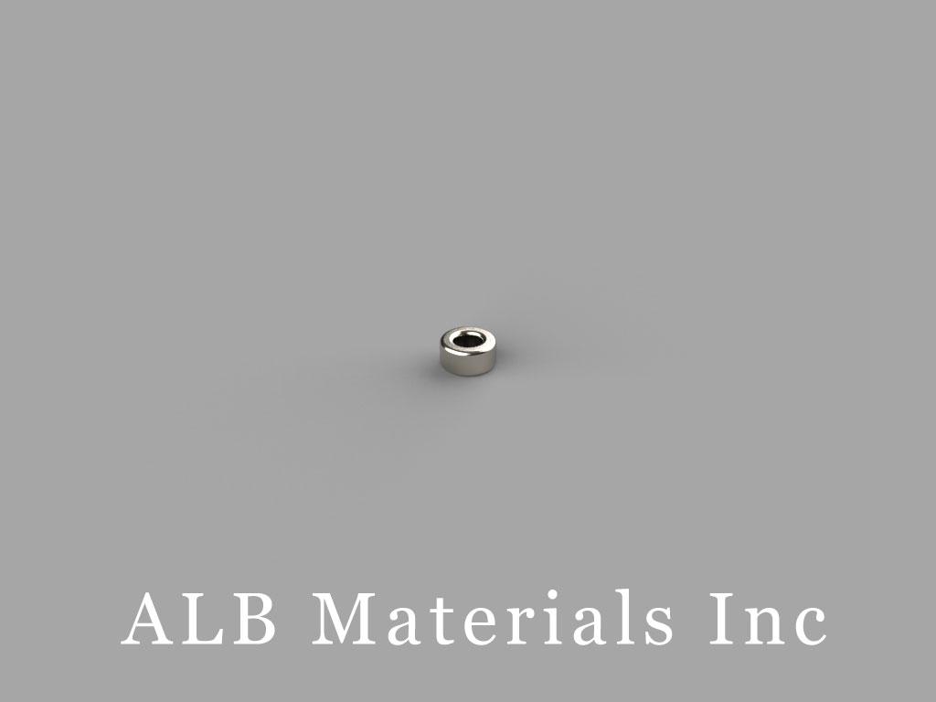 R211 Neodymium Magnets, 1/8 inch od x 1/16 inch id x 1/16 inch thick