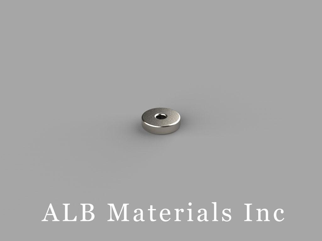 "R411 Neodymium Magnets, 1/4"" od x 1/16"" id x 1/16"" thick"