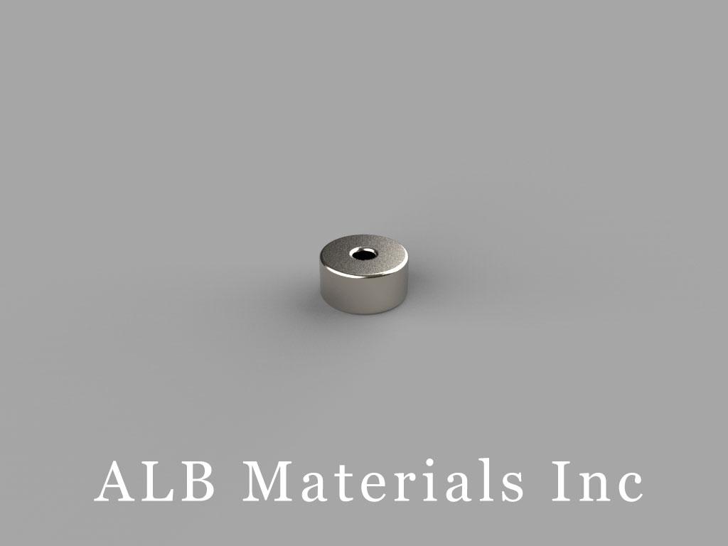 "R412 Neodymium Magnets, 1/4"" od x 1/16"" id x 1/8"" thick"