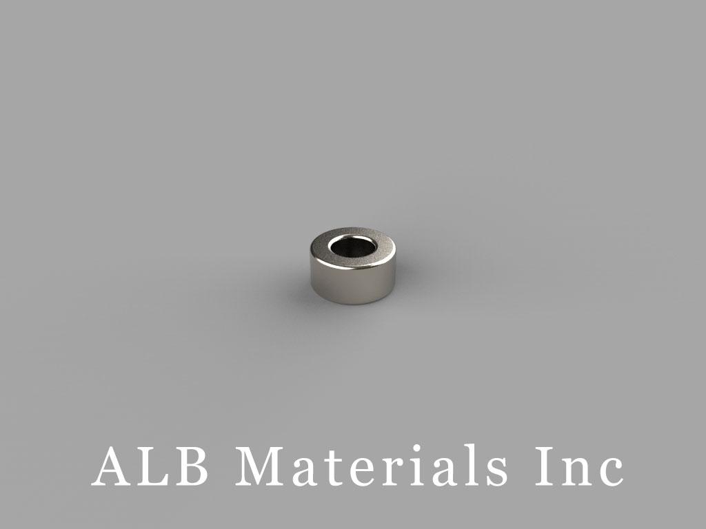 R422 Neodymium Magnets, 1/4 inch od x 1/8 inch id x 1/8 inch thick