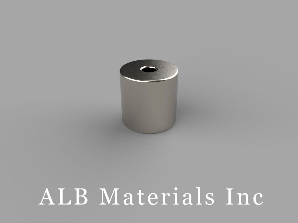 R6036DIA Neodymium Magnets, 3/8 inch od x 3/32 inch id x 3/8 inch thick
