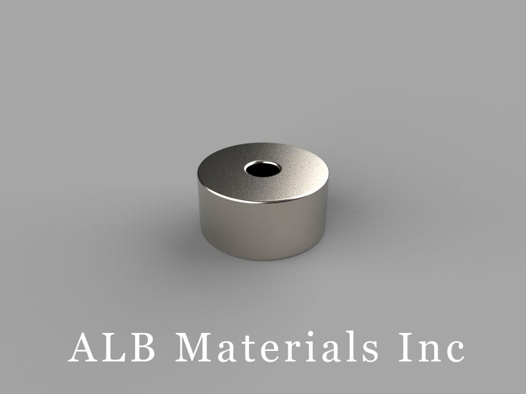 "R824 Neodymium Magnets, 1/2"" od x 1/8"" id x 1/4"" thick"