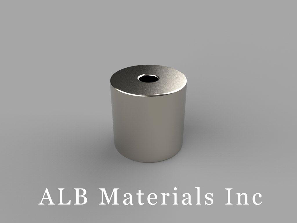 "R828 Neodymium Magnets, 1/2"" od x 1/8"" id x 1/2"" thick"