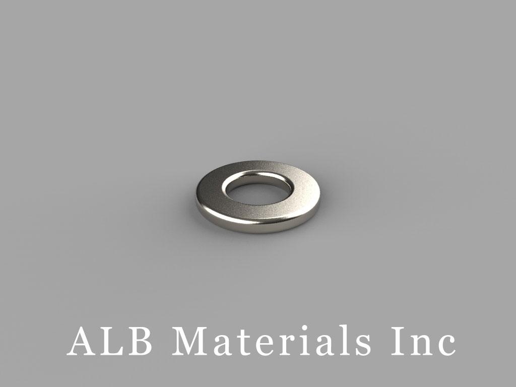 R841 Neodymium Magnets, 1/2 inch od x 1/4 inch id x 1/16 inch thick