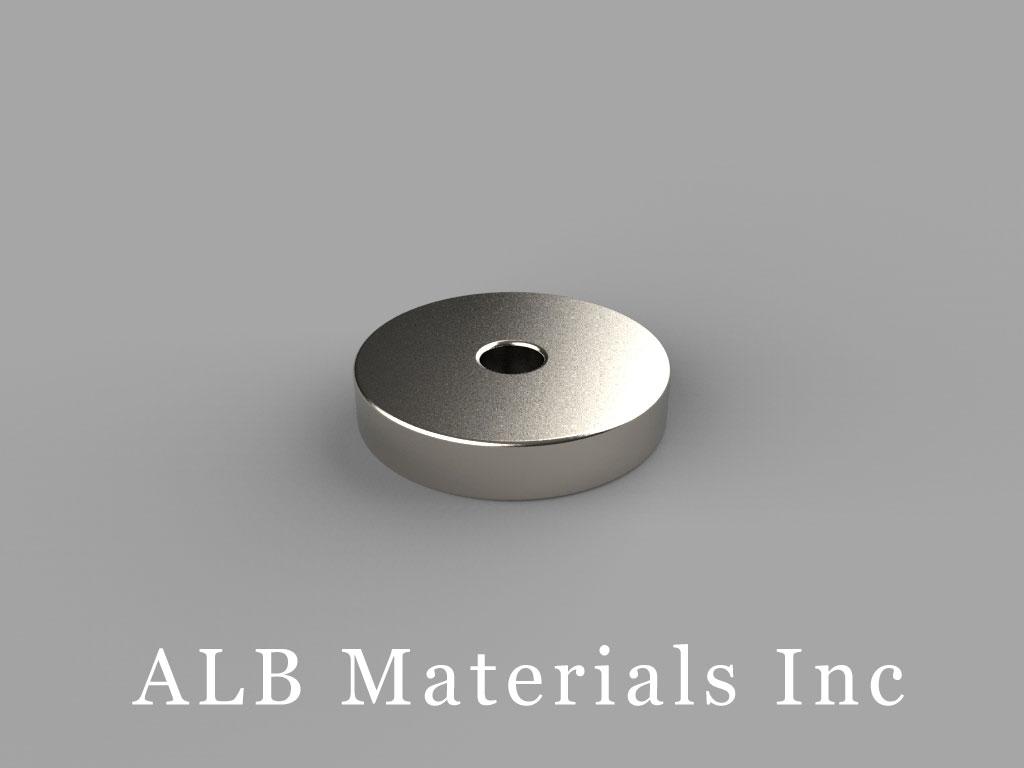 "RA22 Neodymium Magnets, 5/8"" od x 1/8"" id x 1/8"" thick"