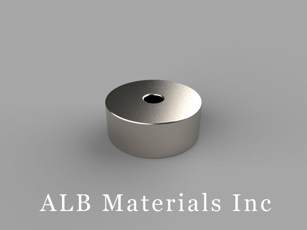 "RA24 Neodymium Magnets, 5/8"" od x 1/8"" id x 1/4"" thick"