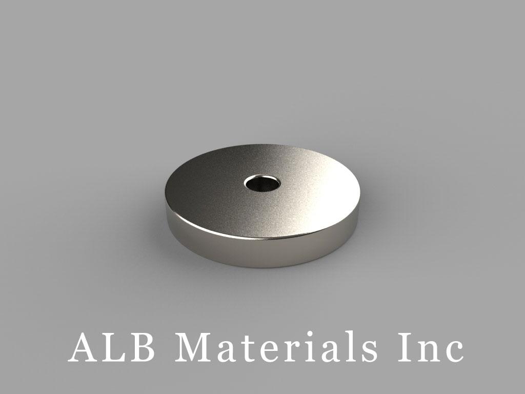 """RC22 Neodymium Magnets, 3/4"""" od x 1/8"""" id x 1/8"""" thick"""