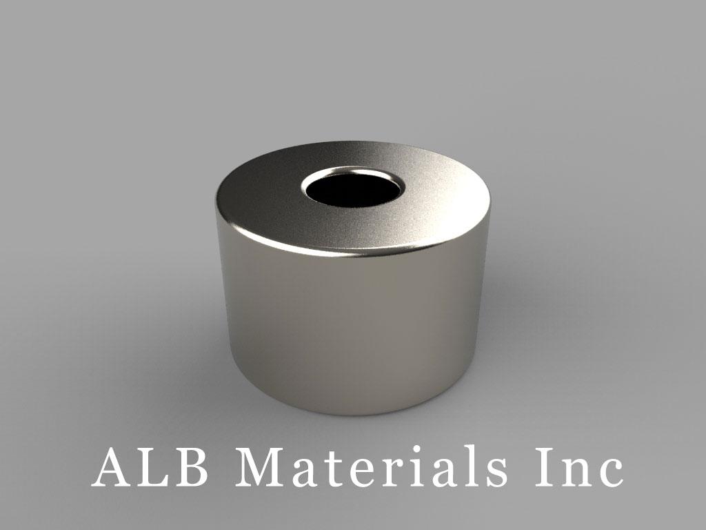 RC48 Neodymium Magnets, 3/4 inch od x 1/4 inch id x 1/2 inch thick