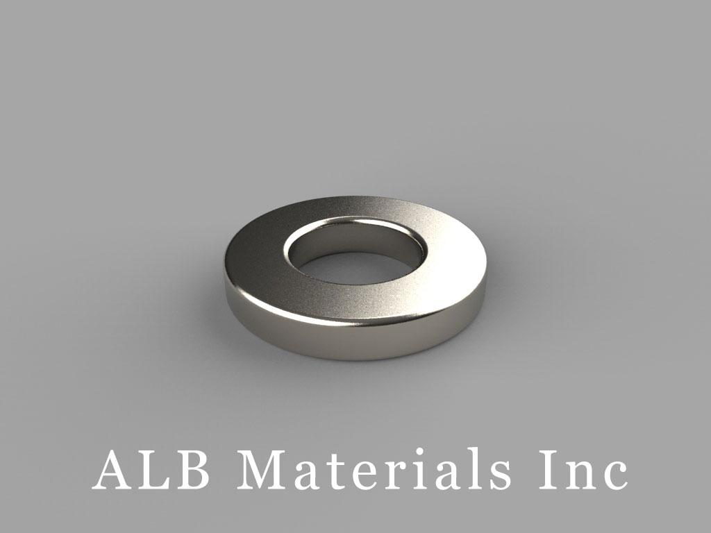 RC62 Neodymium Magnets, 3/4 inch od x 3/8 inch id x 1/8 inch thick