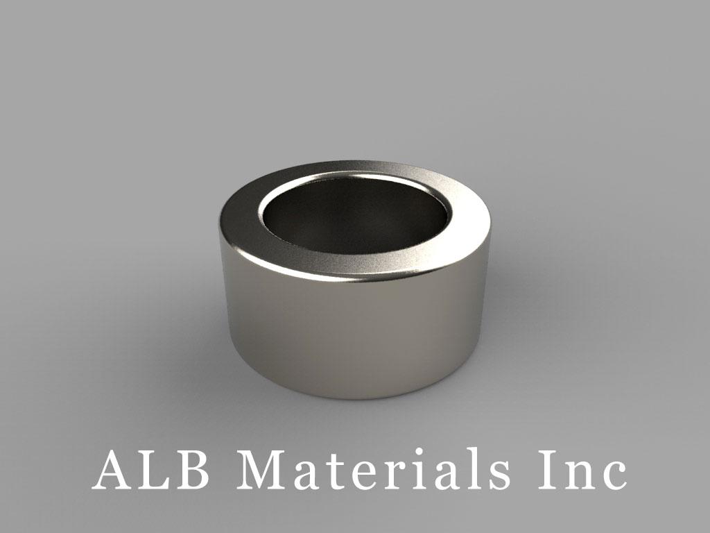 RC86 Neodymium Magnets, 3/4 inch od x 1/2 inch id x 3/8 inch thick