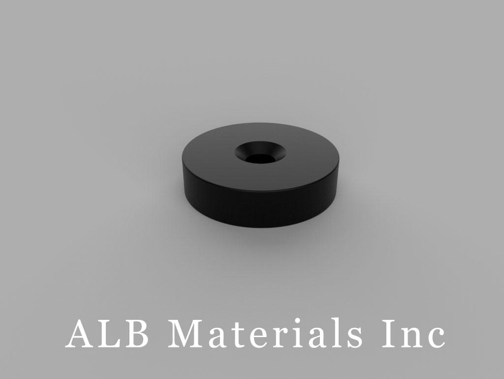 RX034DCSPC-BLK Plastic Coated Neodymium Magnets
