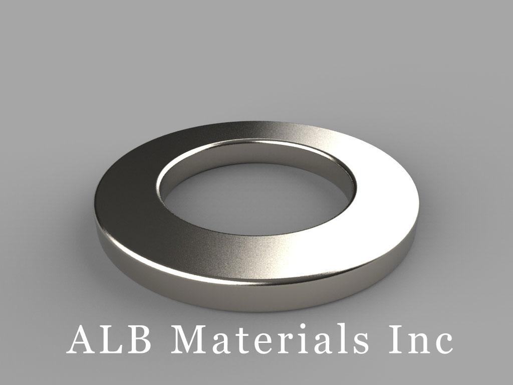 "RX4C2 Neodymium Magnets, 1 1/4"" od x 3/4"" id x 1/8"" thick"