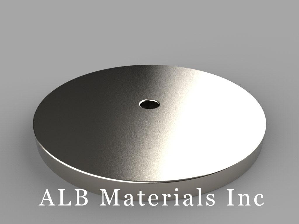 "RX822 Neodymium Magnets, 1 1/2"" od x 1/8"" id x 1/8"" thick"