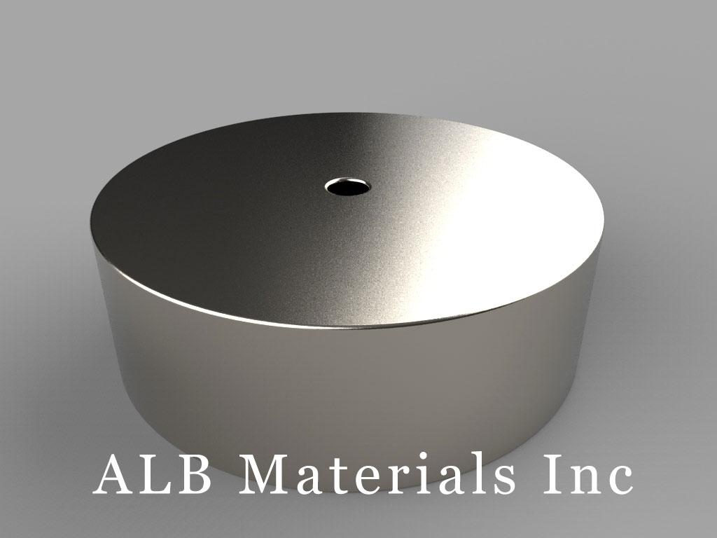 "RX828 Neodymium Magnets, 1 1/2"" od x 1/8"" id x 1/2"" thick"