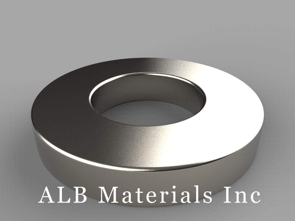 RX8C4 Neodymium Magnets, 1 1/2 inch od x 3/4 inch id x 1/4 inch thick