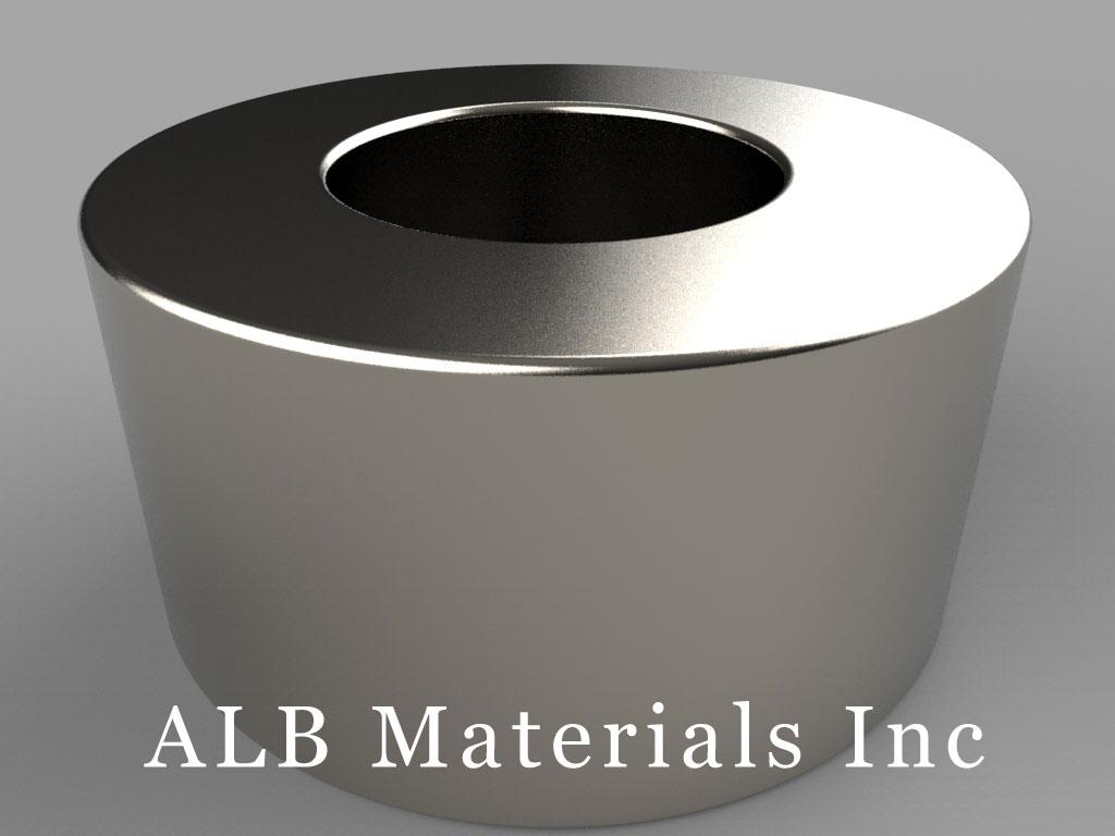 "RX8CC Neodymium Magnets, 1 1/2"" od x 3/4"" id x 3/4"" thick"