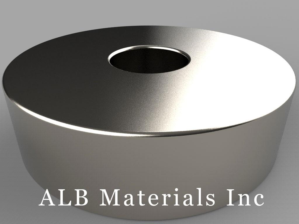 RXC88 Neodymium Magnets, 1 3/4 inch od x 1/2 inch id x 1/2 inch thick