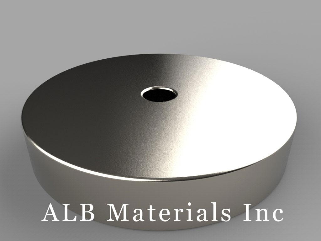RY046 Neodymium Magnets, 2 inch od x 1/4 inch id x 3/8 inch thick