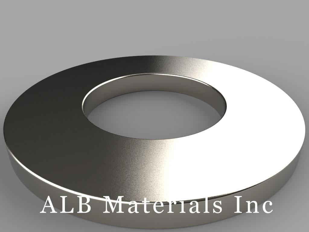 RZ0X84 Neodymium Magnets, 3 inch od x 1 1/2 inch id x 1/4 inch thick