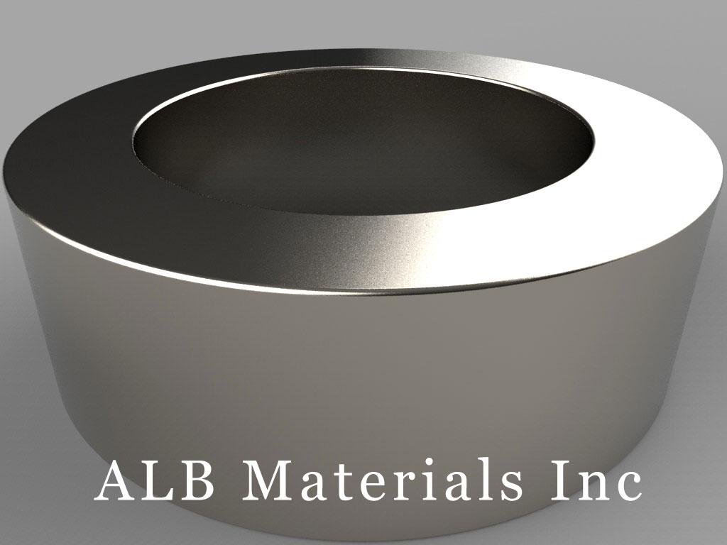 RZ0Y0X0 Neodymium Magnets, 3 inch od x 2 inch id x 1 inch thick